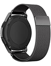 XIHAMA XHAMA Armband für Samsung Gear S3 Frontier / S3 Classic Smart Watch mit Magnetverschluss, Milanese Loop Edelstahl Armband, Metall Ersatzband