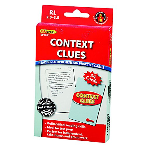 Edupress Reading Comprehension Practice Cards, Context Clues, Red Level (EP63071)