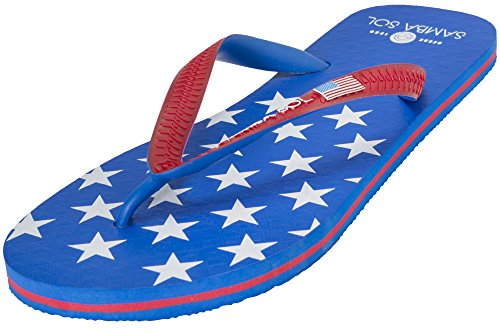 Samba Sol Mens Flag Collection Flip Flops - Fashionable and Comfortable. Trendy and Classic Sandals For Mens. Usa 1 7IHU0PrI