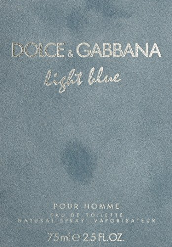 D & G Light Blue By Dolce & Gabbana For Men, Eau De Toilette Spray, 2.5-Ounce Bottle