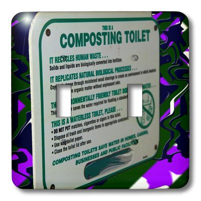 Electric Composting Toilet (3dRose  lsp_56509_2 This is A Composting Toilet Sign in A Bathroom in Snow Canyon State Park Utah Double Toggle Switch)