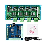 SainSmart CNC TB6600 4 Axis 4.5A Stepper Motor Driver Board, MACH3 USB 4 Axis 100KHz Smooth Stepper Motion Controller Board