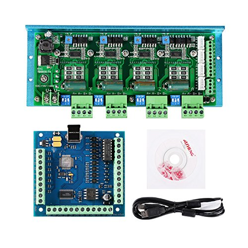 4 Axis 4.5A Stepper Motor Driver Board, MACH3 USB 4 Axis 100KHz Smooth Stepper Motion Controller Board ()