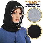Ski Face Mask Women Men Balaclava Fleece Hood Winter Face Mask Head Warmer Face Warmer for Snowboarding Dog Jogging