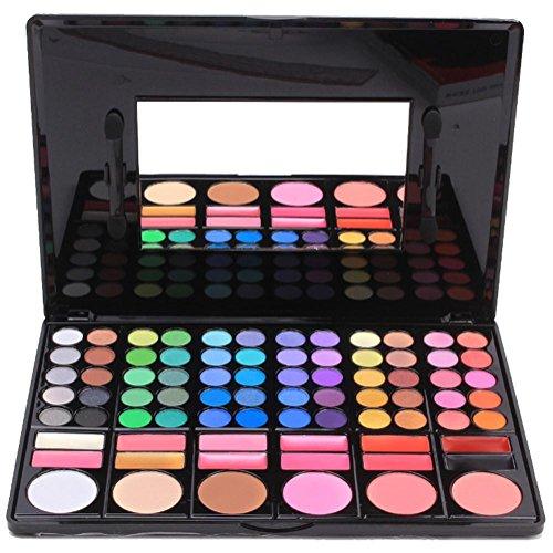 78 color eyeshadow-color shimmer matte lip makeup