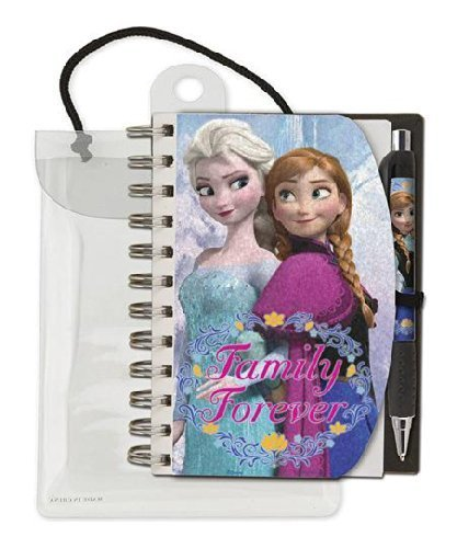 Disney Frozen Family Forever Holographic Notebook and Pen Stationary - Notebooks Frozen Mini