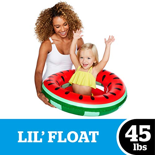 BigMouth Inc One-in-A-Melon Watermelon Lil' Water Float - Pool Float for Infants & Kids Ages 1-3, Perfect for Beginner Swimmers, Multicolor