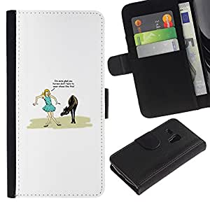 EJOY---Tirón de la caja Cartera de cuero con ranuras para tarjetas / Samsung Galaxy S3 MINI 8190 / --Piso está mojado