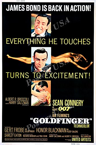 Posters USA - 007 Goldfinger James Bond Movie Poster GLOSSY FINISH - REL018 (24
