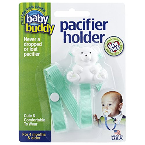 Baby Buddy Unisex Pacifier Holder Clip, Mint Green, 4 Months