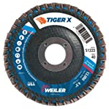 Weiler 51223 Tiger X Flap Disc, Ceramic and