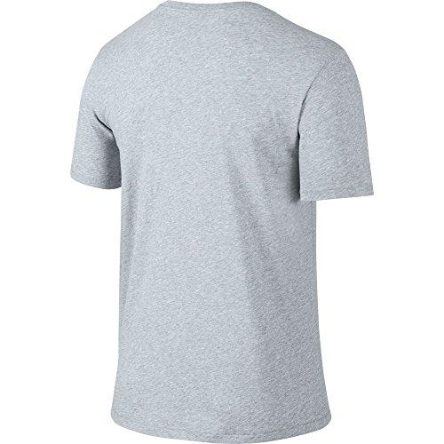NIKE Men's Dri-FIT Cotton 2.0 Tee, Birch Heather/Birch Heather/Black, Small by Nike (Image #2)