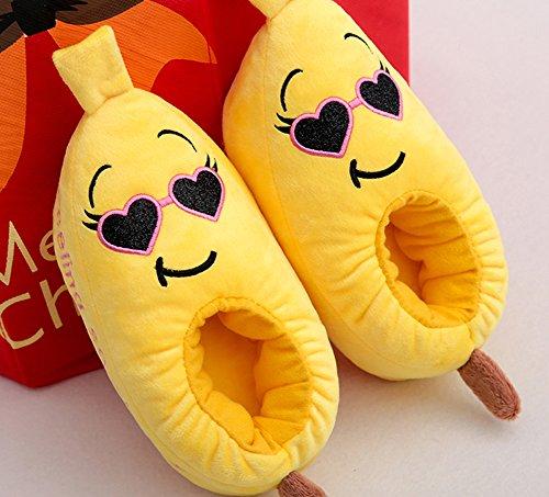 ... Kvinner Og Jenter Banan Form Nydelig Tøffel Tøfler Cosplay Kostymer  Jenter ...