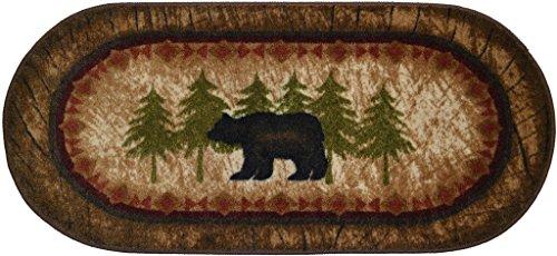 Black Bear Furniture - Wholesale Rug Source Cozy Cabin Birch Bear Nonskid (Non Slip) Cute Lodge Kitchen Mat Rug, 20