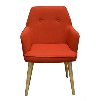 pierimport fauteuil de table scandinave orange oslo - Fauteuil De Table Scandinave