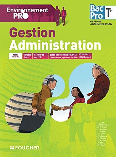 Environnement pro Gestion Administration Tle Bac Pro