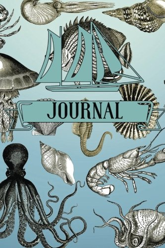Journal: Marine Life Design | Childrens Lined Journal With Drawing Boxes | Draw, Write, Doddle, Diary, Jotter, Ruled | 100 pages | 6 x 9 Small notebook (Kids Collection) (Volume 12)
