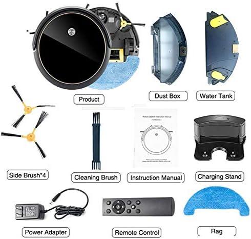 DWDADYYY Aspirateur Robot, Peut être utilisé pour la Navigation par caméra.Divers Modes de Nettoyage avec Une vadrouille de Nettoyage Automatique contrôlée par APP