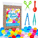 KINFAYV Water Beads - 15OZ 90000 Beads 1 Scoop 2 Tweezer 1 Spoon, Soft Water Jelly Beads Motor Skills Toy Set, Non-Toxic Water Sensory Toy for Tactile Toys, Sensory Toys, Vase Filler