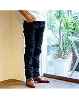 【JAPAN BLUE】セルヴィッチ タイトストレート ブラックジーンズ [JB0716]