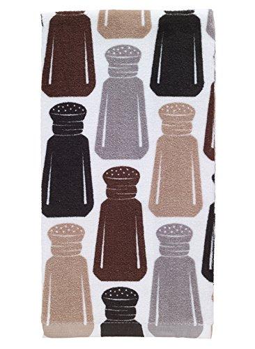 T-Fal Textiles 100% Cotton Fiber Reactive Printed Kitchen Dish Towel, 19 x 28, Salt & Pepper Print
