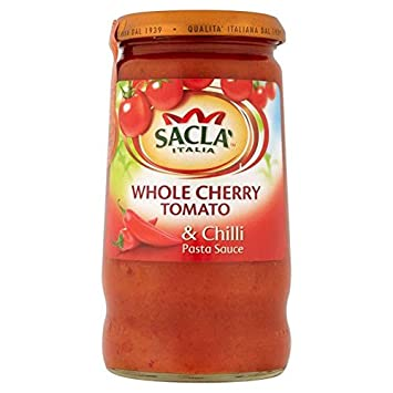 Sacla Whole Cherry Tomato & Chilli Pasta Sauce - 350g