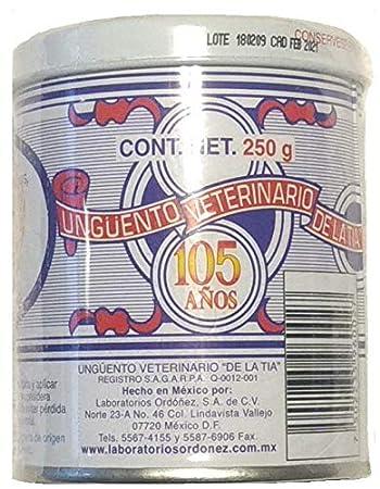 Unguento Veterinario de la Tia 250 gramos y Llavero. De la Tia Veterinary Ointment 8.81 Oz. and Key Chain.