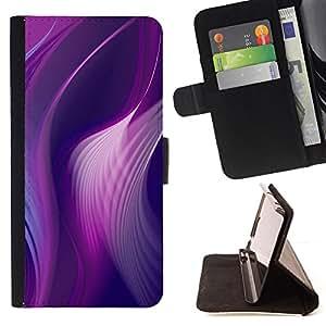 - Queen Pattern FOR Sony Xperia Z3 D6603 /La identificaci????n del cr????dito ranuras para tarjetas tir????n de la caja Cartera de cuero cubie - curvy lines purple pink peacock vi