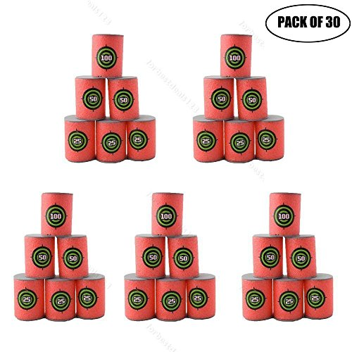 30pcs Soft EVA Bullet Target Dart Foam Toy Gun Shoot Dart for NERF N-Strike Blaster Kids Toy, 6Pcs/Set, 5-Set