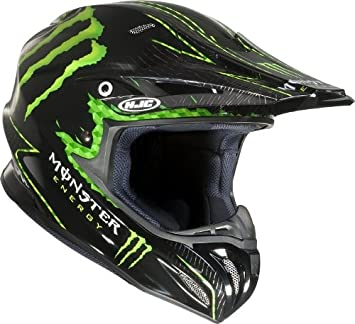 HJC Cross Casco r-pha X Nat Adams Monster MC de 5 Negro Talla L