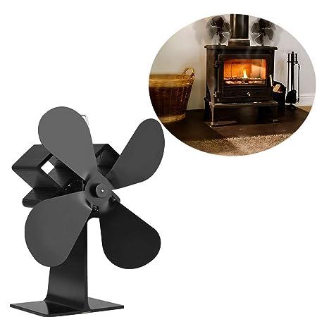 Ventilador de horno de Avarp, silencioso, para leña, quemador LOG ...