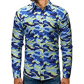 ZYEE Clearance Sale! Men's Autumn Blouse Winter Camouflage