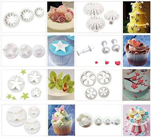 Decor Paste Tools Fondant Cake Decorating Cookie Sugarcraft Heart Plunger Mold