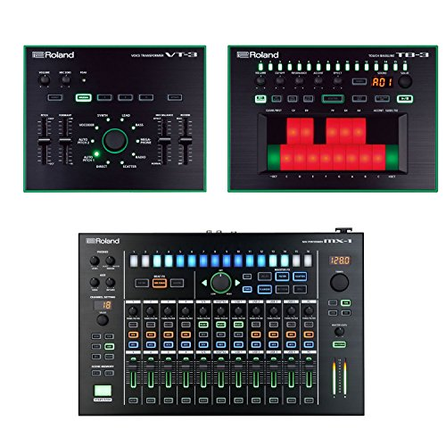 Roland MX-1 Mix Performer with TB-3 Touch Bassline Bass Synthesizer & VT-3 Voice Transformer - Roland Tb 3