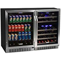 Edgestar 46 Bottle + 148 Can Side-by-Side Wine & Beverage Cooler Center