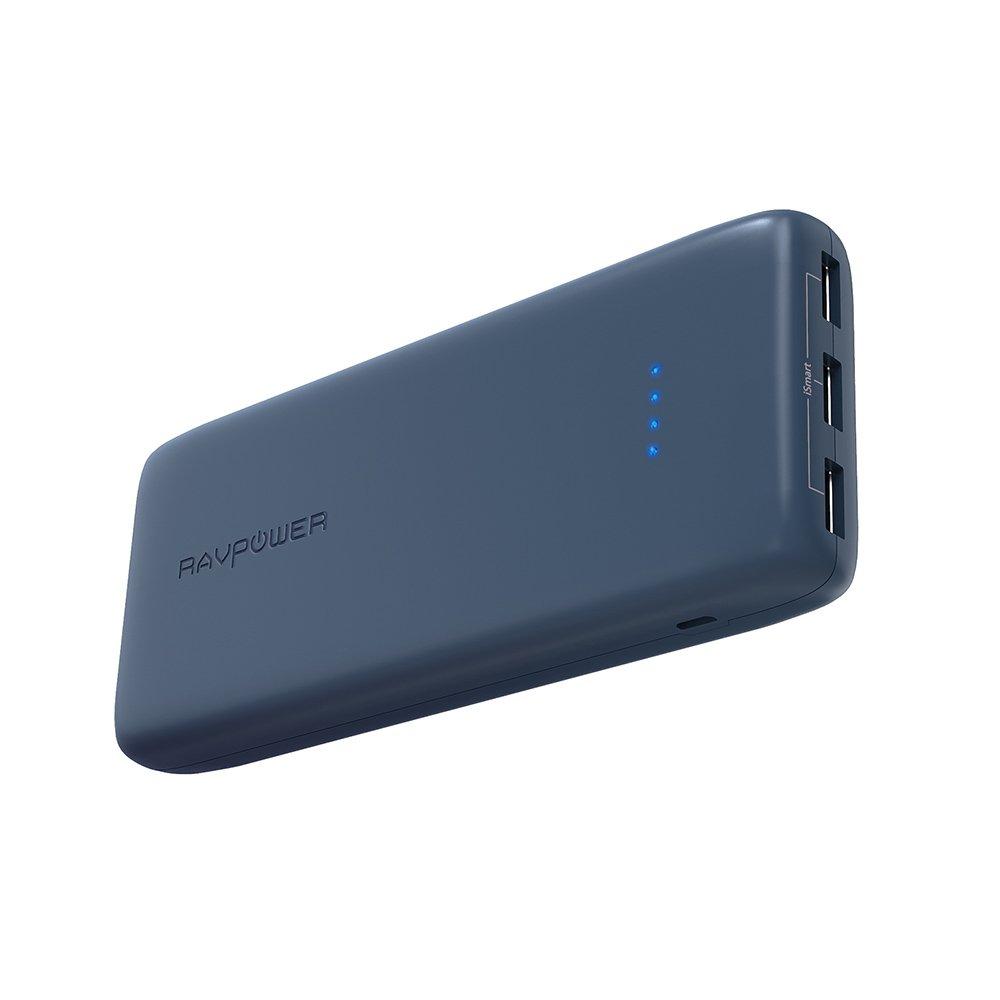 ravpower 22000mah powerbank externer akku 3 usb anschl sse iphone android blau ebay. Black Bedroom Furniture Sets. Home Design Ideas