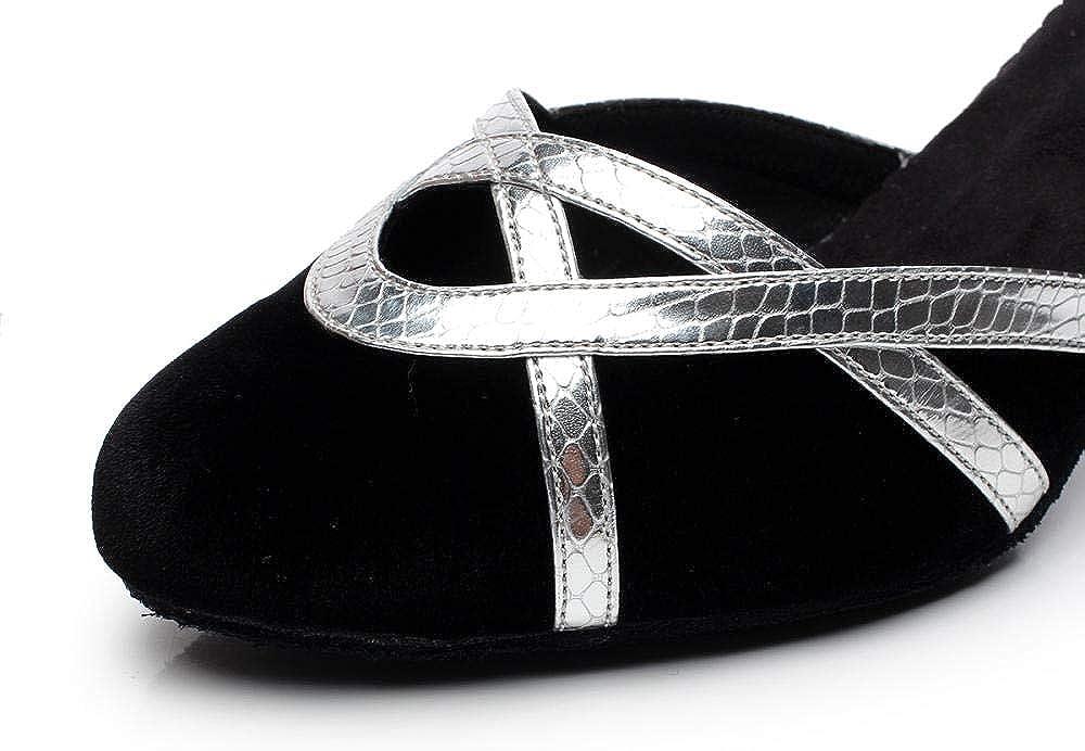 JINGXINSTORE Dames Cross Strap Wedding Ballroom Latin Tango Dance Shoes