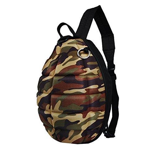 Grenade Bag - SXELODIE Backpack Shoulder Bag, Grenade Shape, Personality Shoulder Bag,Natural