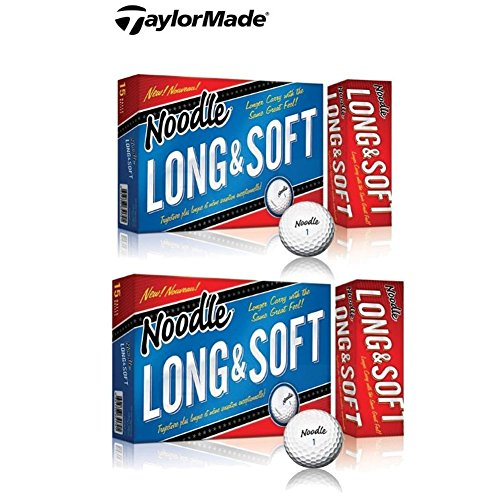 2 Boxes TaylorMade Noodle Long & Soft Golf Ball, 15-Ball Pack (30 - Soft Players Ball