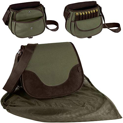 Shotgun Case Nylon - BronzeDog Hunting Bag Leather Nylon Ammo Holder 12 16 Gauge Durable Shotgun Shell Pouch Case