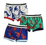 Happy childhood 3 Pack Baby Boy Underwear Box Briefs Cotton Comfortable Pants Dinosaur Pattern for Toddler Kids 2-7T (2T/90CM)
