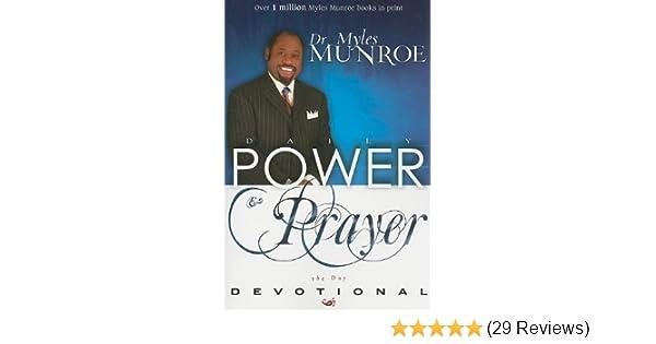 daily power prayer 365 day devotional munroe myles