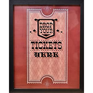 """XL 15""""X12"""" - Ticket Shadow Box - Memento Frame - Large Slot on Top of Frame - Memory Box Storage for Any Size Tickets. Best for Storing Concert Movie Theater & Sporting Event Ticket Stubs"""