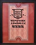 XL 15''X12'' - Ticket Shadow Box - Memento Frame - Large Slot on Top of Frame - Memory Box Storage for Any Size Tickets. Best for Storing Concert Movie Theater & Sporting Event Ticket Stubs