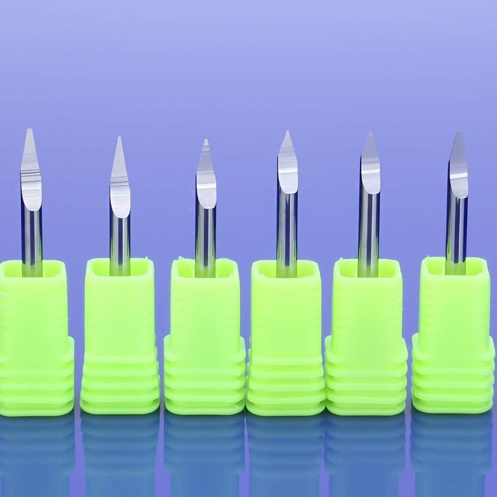 FLY MEN 10PCS 0.1mm 20 Degree V-Shape Carbide PCB Board Engraving Bits CNC Router Tool