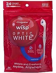 Colgate Wisp Portable Mini-Brush Optic White, Coolmint, 24 Count