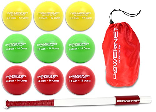 (PowerNet Sweet Spot Training Bat + Baseball 2.8
