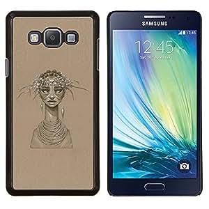 Jordan Colourful Shop - African Woman For Samsung Galaxy A7 Personalizado negro cubierta de la caja de pl????stico