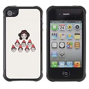 "Pulsar iFace Series Tpu silicona Carcasa Funda Case para Apple iPhone 4 / iPhone 4S , Personajes Siete Princesa"""