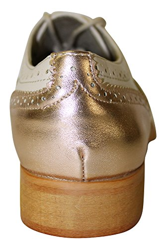 Wanted Women's Gold Oxford Babe Nude Rose Shoe Shoes qSq8T4R